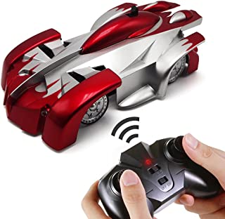 eMart Tipmant Children Mini Radio Remote Control Car Kids Electric Toy RC Vehicle Drive on the Wall  for Kids - Red