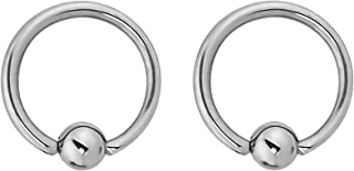 14g-20g Every-Day Surgical Steel Captive Bead Ring Body Piercing Hoops