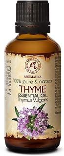 Thym Huile Essentielle 50ml - 100% Pur & Naturel Thym - Huile de Thymus Vulgaris - Autriche - Aromathérapie - Diffuseur - ...