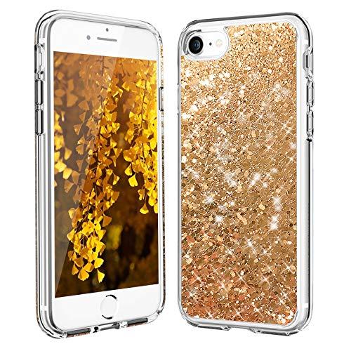 Carcasa para iPhone 8, iPhone SE 2020 con purpurina de cristal Quicksand líquido, carcasa flexible de silicona TPU anticaídas resistente a los arañazos para iPhone 6/6S/7/8/SE 2020 (4,7 pulgadas)