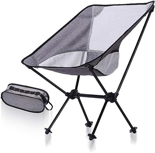 WSBBQ Chaise de Camping Pliante portable léger Sac à Dos Chaises Compact Heavy Duty avec Sac de Transport pour la randonnée Picnic plage Camp sac à dosing Festivals en Plein air