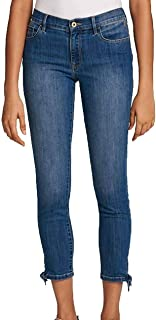 Tommy Hilfiger Womens Tie-Ankle Skinny Jeans Indigo Fade, 4