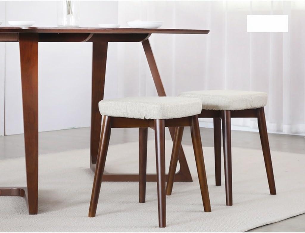 SLL- Tabouret de salle à manger en bois massif tabouret de cuisine tabouret créatif Fauteuils et Chaises (Color : D) B