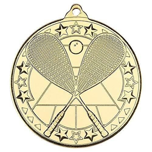 Lapal Dimension Medalla de Ping Pong, diseño de Estrella Tri, Color Dorado, 5 cm
