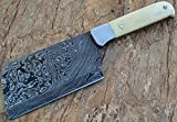 Limited Stock - RT-09, Handmade Damascus Steel Cleaver Knife – Bone Handle