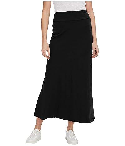 Michael Stars Bethany Cotton Modal Maxi Skirt (Black) Women