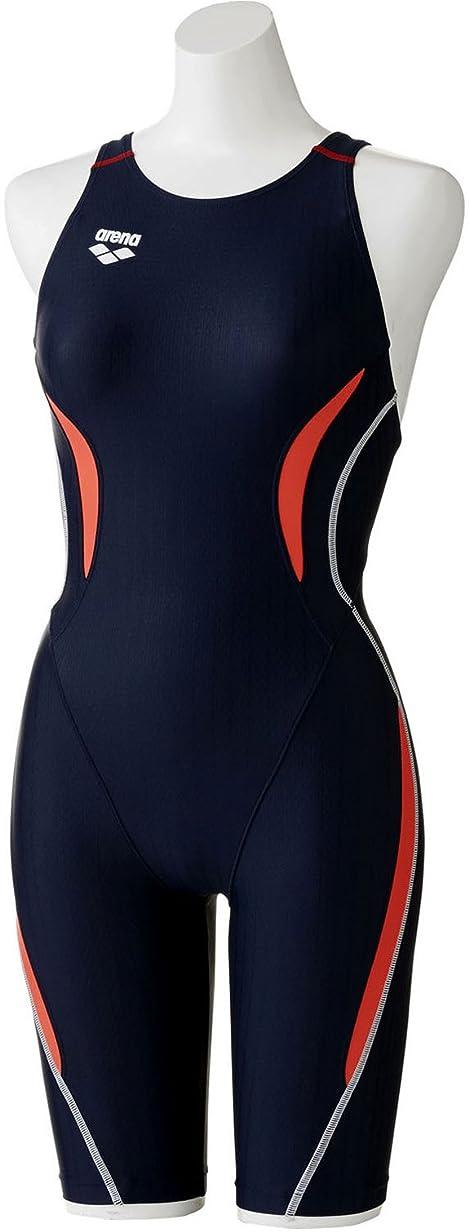 見捨てる回復バーゲンarena(アリーナ) 競泳用 水着 レディース AQUA RACING UROKO SKIN セイフリーバックスパッツ 着やストラップ FINA承認 ARN-7050W (S~XOサイズ)