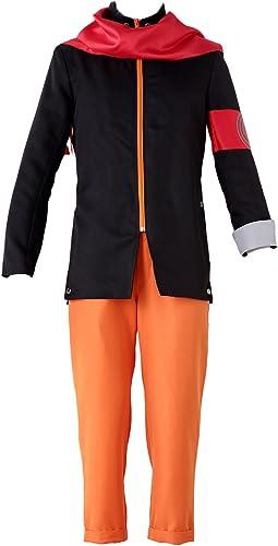 servicio considerado De-Cos Cosplay Costume Hidden Leaf Ninja Ninja Ninja Shinobi Uzumaki Naruto Outfit Set  precio mas barato