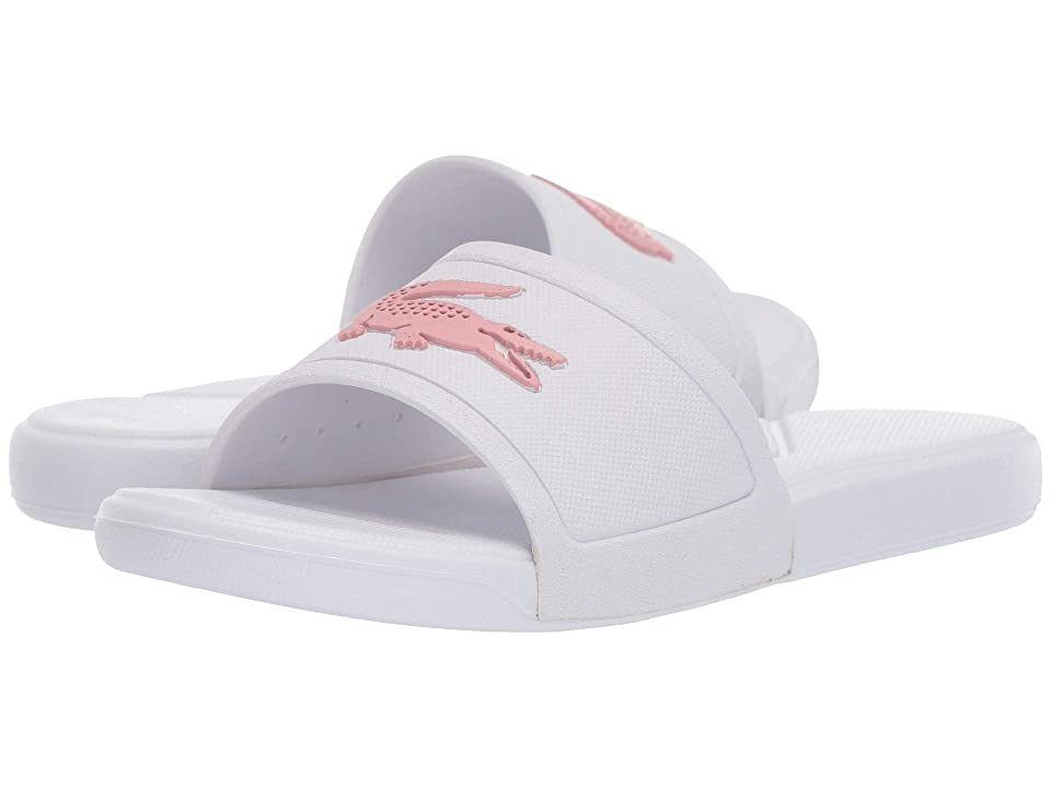 Lacoste Kids L.30 Slide 119 2 CUC (Little Kid) (White/Light Pink) Girl