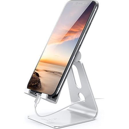 Lomicall スマホ スタンド ホルダー 角度調整可能, 携帯電話卓上スタンド : 卓上 充電スタンド, 横, 縦, スマフォスタンド, アイフォンデスク置き台, aluminium, アイフォン, アンドロイド, 2020 12 mini 11 Pro Max, 11 プロ マックス XS Max XR X 8 plus 7 7plus 6 6s 6plus 5 5s se se2 第二世代, Xiaomi Redmi Note 8 9 10 pro mi, huawei p20 p30 lite, Xperia, android対応