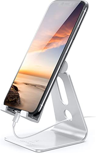 Adjustable Cell Phone Stand, Lamicall Phone Stand: [Update Version] Cradle, Dock, Holder Compatible with iPhone Xs XR...
