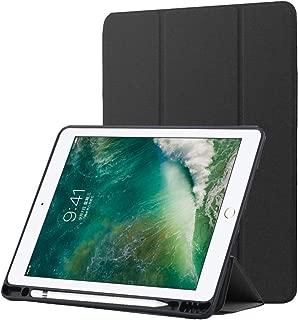 "A-BEAUTY Funda con Pencil Holder for iPad Air (3rd Gen) 10.5"" 2019 / iPad Pro 10.5"" 2017 Ultra Delgado Suave TPU Honeycomb Contraportada Auto Sueño/Estela, Negro"