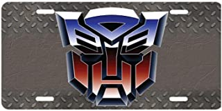 panda Transformers Autobots License Plate license frame custom Metal License Plate for Car Novelty license plate 12 inch X 6 inch