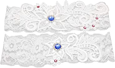 EDOBLUE Vintage Retro Lace Bow Wedding Flower Girl Basket … (Bridal Garter)