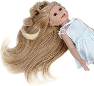 H&Bwig Doll Wigs for 18 inch Dolls Ombre Blonde Long Wave Hair Wig Girl Gift DIY Hairstyle by Yourself