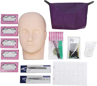Professionele One Training Head Model Valse Wimpers Extension Practice Kit Tool voor Wimper Extensions, Plastic Cosmetolog...