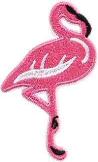 MHKECON Funny Designs Flamingo Embroidered Sew on Iron on Patch for Clothing Backpacks Jeans Caps Shoes etc (Pack of 2) (Flamingo 9)