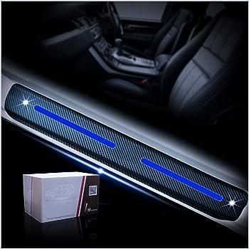 4pcs Carbon Fiber Protector Auto Door Threshold Plate Stickers for Toyota Tacoma Car Door Sill Guards Cover Decor Non-Slip Anti-Scratch Accessories