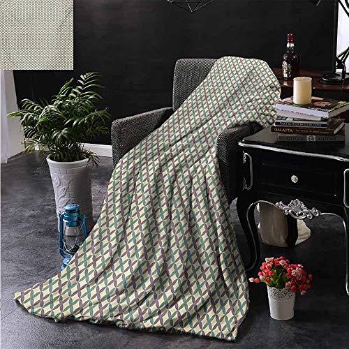 ZSUO bont deken Groen en Paars Bloemen Tegel Patroon Herhalende Vintage Romantische Print Gooi Lichtgewicht Cozy Pluche Microvezel Effen Deken