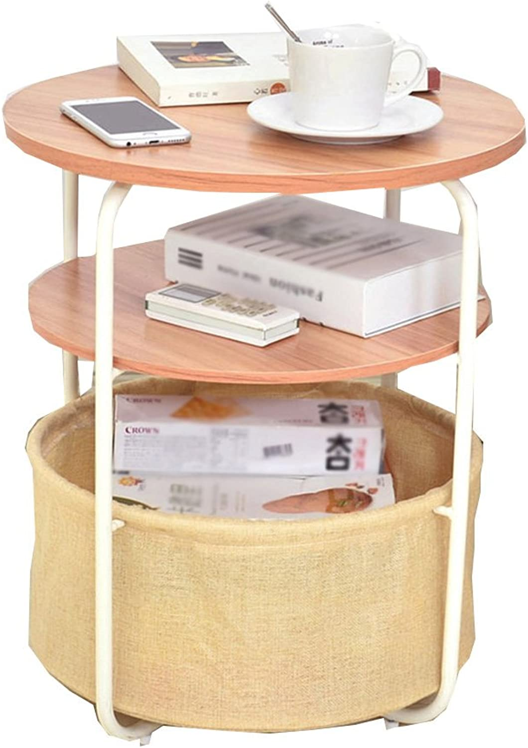 GLJ A Few Sides The Sofa Iron Cabinets Small Coffee Table Simple Living Room Phone A Few Corners The Table A Few Units Folding Table (color   D)