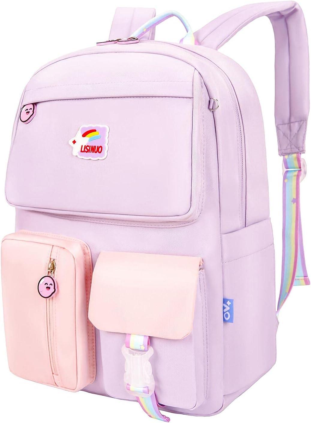 New life LISINUO Backpack for OFFicial Girls Kids Schoolbag Bookbag Women Children
