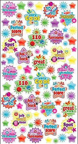 Paarse Perzik Leuke, Sociale en Educatieve Stickervellen (Pak van 12) Beloningsstickers voor Ouders en Leraren