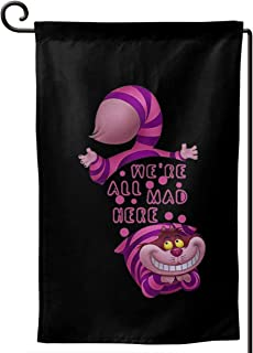 Sunmoonet Garden Flag Alice in Wonderland Cheshire CAT Home Yard Holiday Flags Double Sided Decorative House Decor Flag