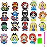 XYDZ Diamond Painting Kits for Kids,10 Style Princess & 9 hero patterns DIY 5D Diamond Painting Kits for Children Suitable for Both Adult Children and Beginners