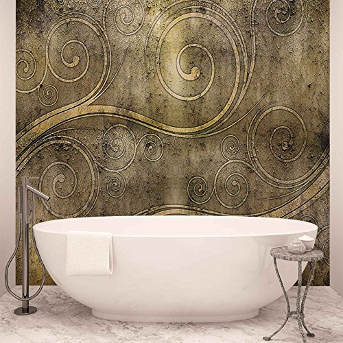 Keltisch Strudel Rost Textur - Forwall - Fototapete - Tapete - Fotomural - Mural Wandbild - (2949WM) - XXXL - 416cm x 254cm - VLIES (EasyInstall) - 4 Pieces