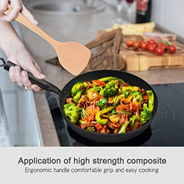 Carbon Steel Wok, 12.5 inch Nonstick Fry Wok Cooking Wok Pan Chinese Iron Pot for Electric, Induction and Gas Stoves Cooking