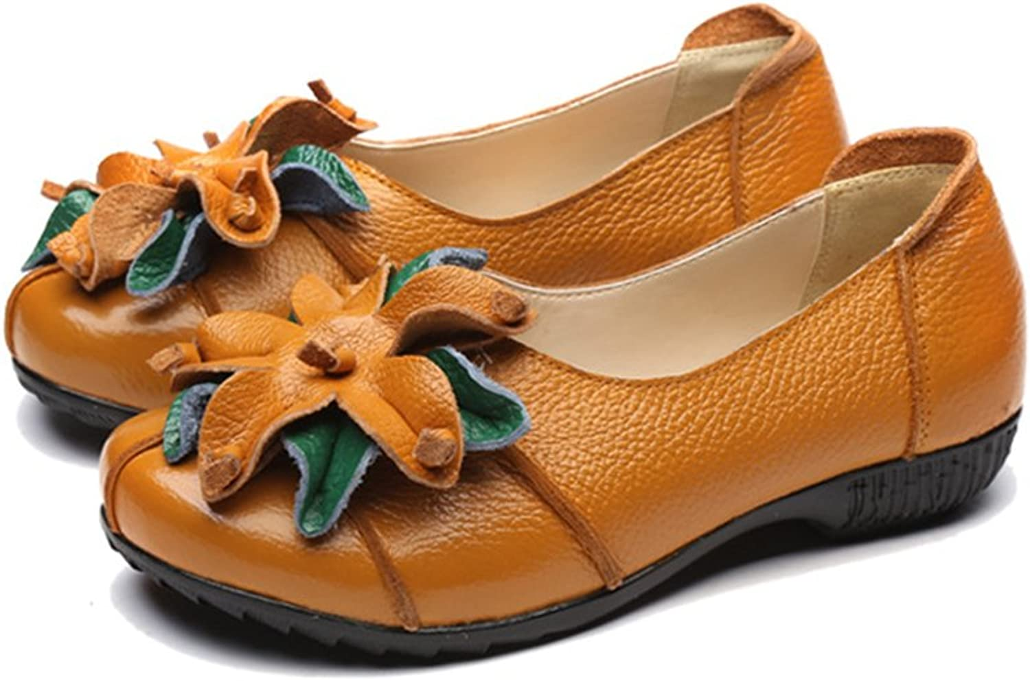 Duberess Women's Casual Leather Loafers Soft Handmade Comfortable Ladies Flat shoes