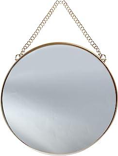 Espelho de parede para pendurar da Vosara, espelho redondo, para decoração de casa de banheiro, quarto, sala de estar (dou...