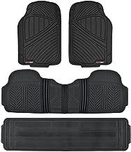 Motor Trend MT-773-801-BK Black 3 Rows FlexTough Series Rubber Floor Mats & Liners for Car SUV Van-Heavy Duty Full Interior