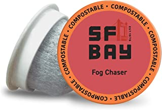 SF Bay Coffee Fog Chaser 80 Ct Medium Dark Roast Compostable Coffee Pods, K Cup..