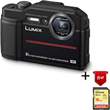 Panasonic Lumix Waterproof Digital Camera – This TS7 Tough Wi-Fi Camera with 3 Inch LCD, 20.4 Megapixels, 4.6X Zoom Lens – Black – DC-TS7K (Renewed)