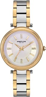 Kenneth Cole Women's Classic Link Crystal KC50961003 Gold Stainless-Steel Quartz Dress Watch