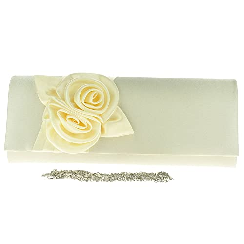 56fedfbb Wocharm(TM)Brand New Satin Envelope Floral Flower Wedding Ladies Party Prom  Evening Clutch