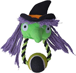 Halloween Dog Squeaky Toy with Tennis Ball Puppy Plush Chew Toy