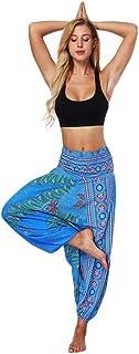 YGDH Pantalones Anchos Pantalones De Pierna Suelta Indias 3D De Danza del Vientre Pantalones De Pierna Ancha Pantalones Fl...