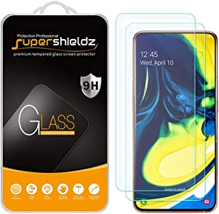 (2 Pack) Supershieldz for Samsung Galaxy A80 Tempered Glass Screen Protector, Anti Scratch, Bubble Free