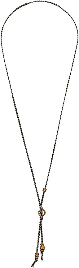 Chan Luu - Ribbon Necklace with Gold Accents