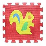 VANKER 1 Pieza Alfombra Puzzle 32 x 32 cm de Espuma EVA Goma Espuma Estera Juego Puzzle (Animal, transporte, fruta y número color al azar)