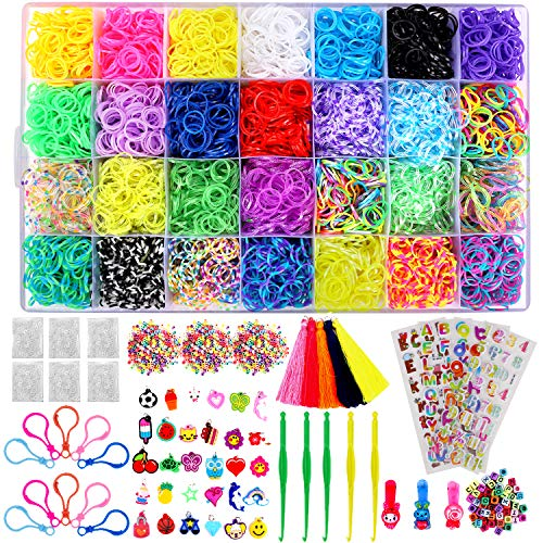 Loom Band Clips 500 Pieces Clear S Clips Rubber Band Clips Plastic Connectors Refills Kit Clip for Making Loom Band Bracelets