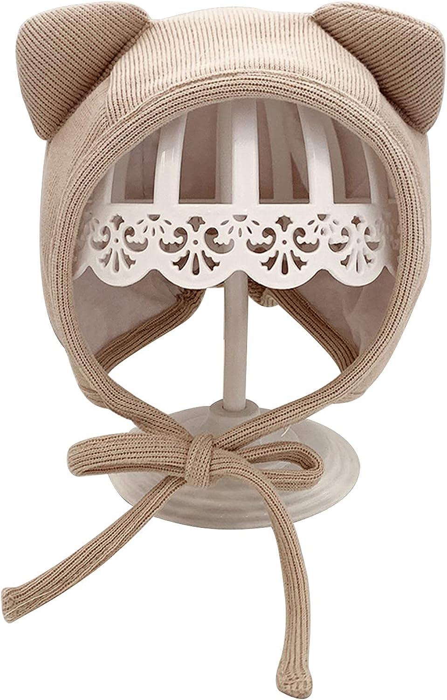 Zjuan Baby Bonnet Hat Lovely Cat with Cott Earflap Don't Fashion miss the campaign Belt Soft