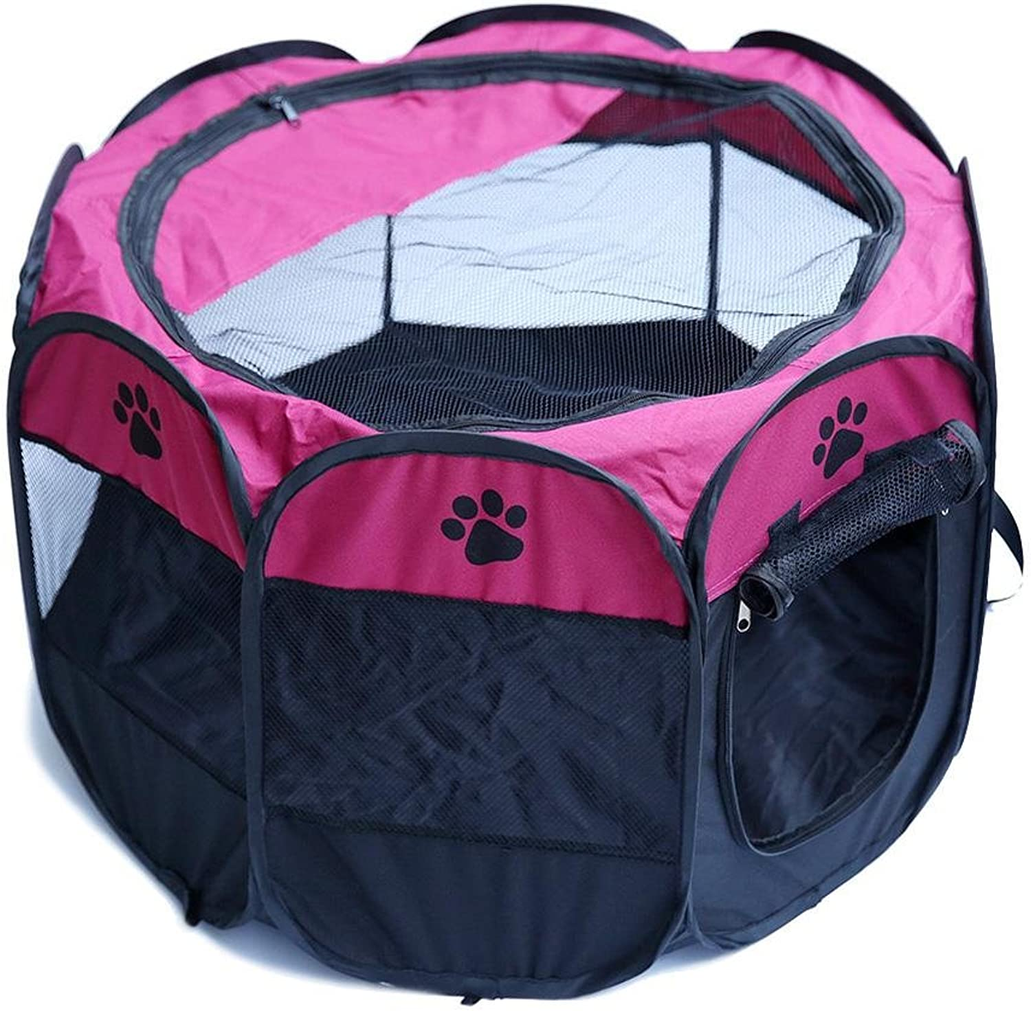 Pet Myyxt Play Pen Portable Foldable Puppy Fences Tent Easy to Assemble Made of 600D Oxford cloth and Steel Ring Cages