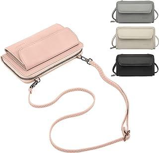 CALIYO Handytasche zum Umhängen, Handy Tasche Geldbörse mit vielen Fächern, Umhängetasche klein, mit RFID-Schutz, abnehmba...