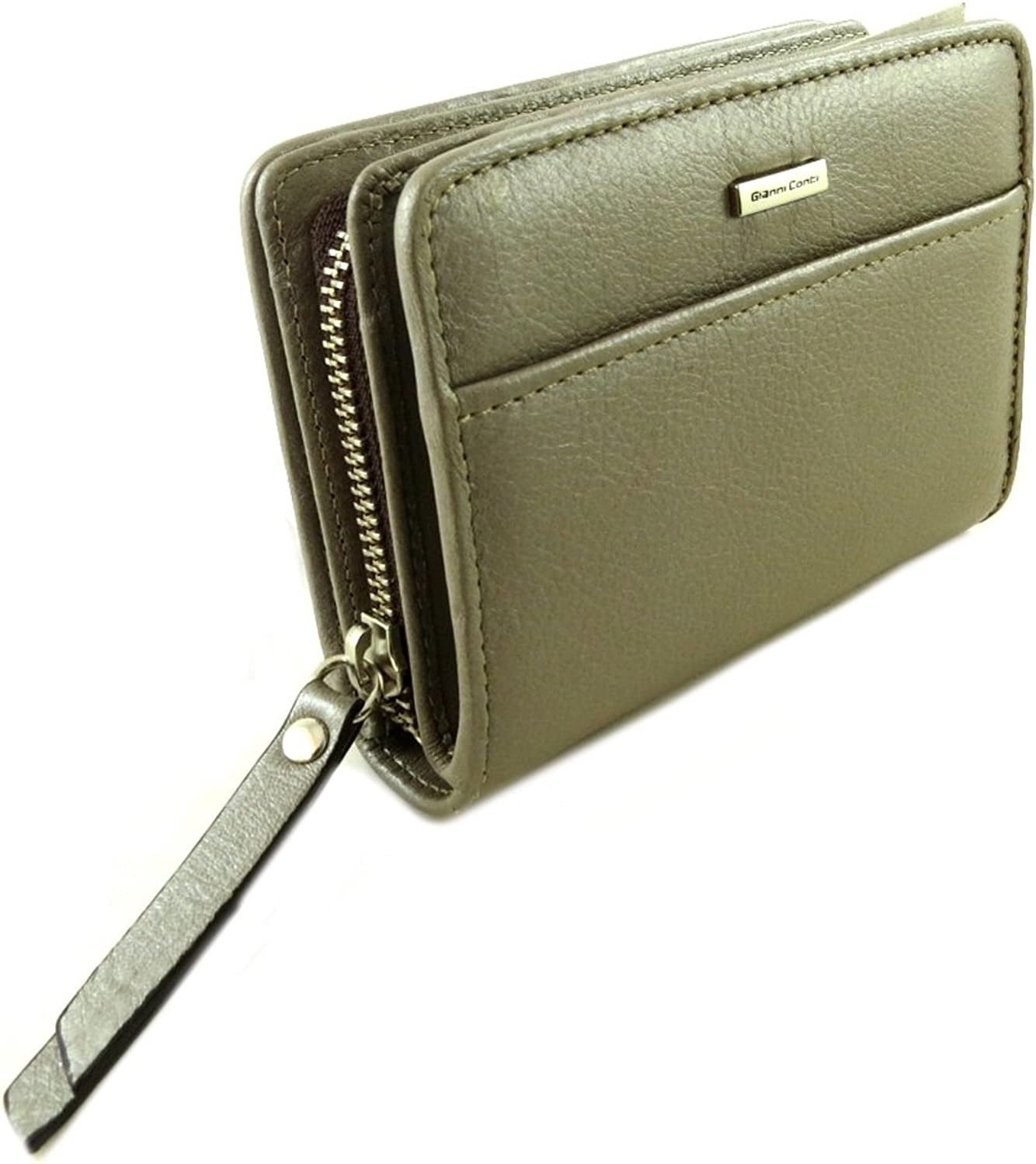 Gianni Conti [P9867]  Leather wallet 'Gianni Conti' taupe  13.5x10x3.5 cm (5.31''x3.94''x1.38'').