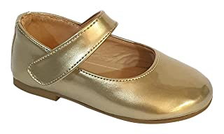 Skippy Patent Faux Leather Round-Toe Velcro-Strap Mary Jane Shoes for Girl