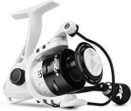 KastKing Crixus Spinning Fishing Reel, 17.5 + lbs. Drag, SuperPolymer Grips, Aluminum Spool, Lightweight Graphite Frame, Graphite Body & Rotor, Aluminum Handle.