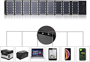 Sunkingdom Solar Charger 60W Portable Solar Panel Charger with 5V USB 18V DC Dual Output Waterproof Camping Foldable Solar Charger for Cell Phone Tablet GPS iPhone iPad Camera Electronic Device